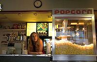 Beach Theatre refreshment cashier on Corey Avenue.  St. Pete Beach Tampa Bay Area Florida USA