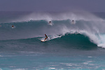 Sunset Beach Park and the famed Sunset surf break on Oahu's North Shore, Hawaii