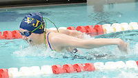 Villa Joseph Marie's Megan Reguera competes in the Girls 200 Individual Medley during the Athletic Association of Catholic Academies Swim Championships Sunday February 14, 2016 at Upper Dublin High School in Upper Dublin, Pennsylvania. She finished 23rd with a time of 2:42.00. (Photo by William Thomas Cain)