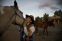 Mustang trainers have strong bonds with the horses they work with daily. Wild horses that are tamed make reliable, surefooted mounts. <br />