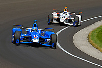 Verizon IndyCar Series<br /> Indianapolis 500 Carb Day<br /> Indianapolis Motor Speedway, Indianapolis, IN USA<br /> Friday 26 May 2017<br /> Tony Kanaan, Chip Ganassi Racing Teams Honda, JR Hildebrand, Ed Carpenter Racing Chevrolet<br /> World Copyright: F. Peirce Williams