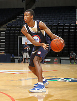 Rodney Hood at the NBPA Top100 camp June 18, 2010 at the John Paul Jones Arena in Charlottesville, VA. Visit www.nbpatop100.blogspot.com for more photos. (Photo © Andrew Shurtleff)