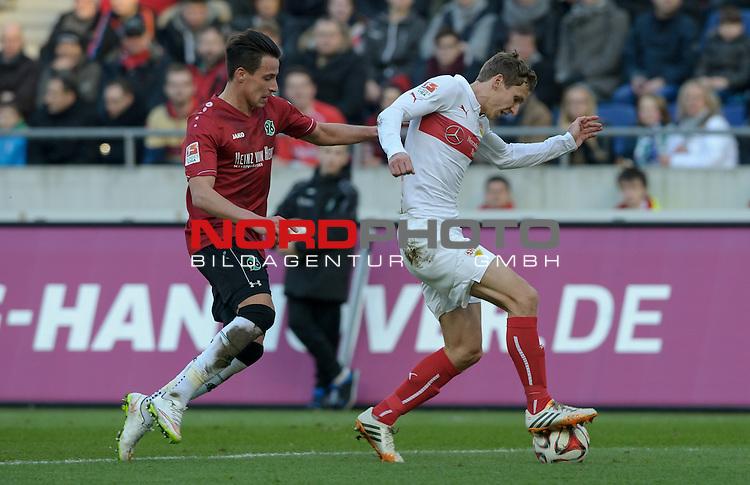 28.02.2015, HDI Arena, Hannover, GER, 1.FBL, Hannover 96 vs VfB Stuttgart, im Bild
