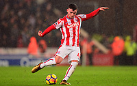 Tom Edwards of Stoke in action during the EPL - Premier League match between Stoke City and Newcastle United at the Britannia Stadium, Stoke-on-Trent, England on 1 January 2018. Photo by Bradley Collyer / PRiME Media Images.