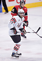 Halifax Mooseheads Colby Pridham in QMJHL (LHJMQ) action at Le Colise Pepsi in Quebec City against the Quebec Remparts. The Remparts won 9-2
