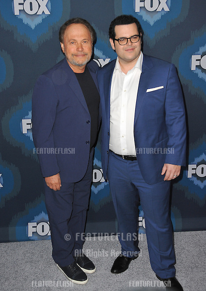 Billy Crystal &amp; Josh Gad (right) at the Fox Winter TCA 2015 All-Star Party at the Langham Huntington Hotel, Pasadena.<br /> January 17, 2015  Pasadena, CA<br /> Picture: Paul Smith / Featureflash