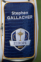 Close-up of bag of Stephen Gallacher (EUR) during the first practice day ahead of the 2014 Ryder Cup at Gleneagles, Perthshire, Scotland 26th to 28th September 2014. Picture David Lloyd / www.golffile.ie.