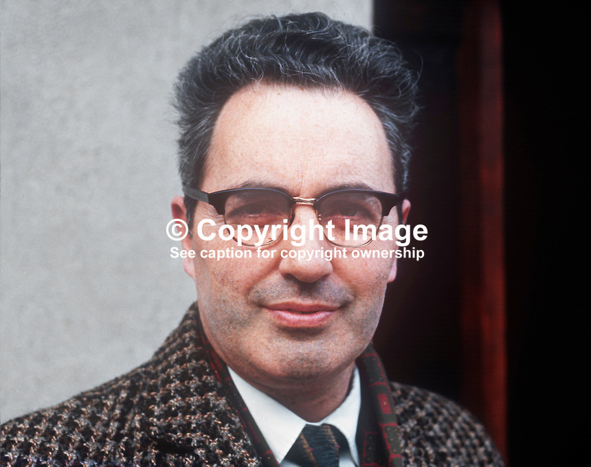 Rory O'Brady, aka Ruair&iacute; &Oacute; Br&aacute;daigh, president, Provisional Sinn Fein, taken February 1972. 197202000279<br />