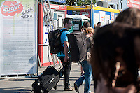 Participants enter Sziget festival held in Budapest, Hungary on August 10, 2011. ATTILA VOLGYI