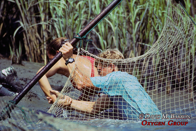 Tim & Heather Mike Setting Nets For Diamondback Terrapins