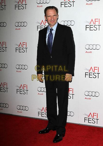 "Ralph Fiennes.AFI Fest 2011  Premiere Of ""Coriolanus"" Held At Grauman's Chinese Theatre, Hollywood, California, USA..November 7th, 2011.full length black suit blue tie shirt.CAP/ADM/KB.©Kevan Brooks/AdMedia/Capital Pictures."