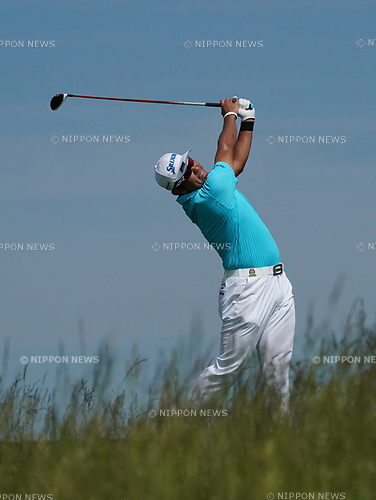 Hideki Matsuyama (JPN),<br /> JUNE 15, 2017 - Golf :<br /> Hideki Matsuyama of Japan during the first round of the U.S. Open  Championship at Erin Hills golf course in Erin, Wisconsin, United States. (Photo by Koji Aoki/AFLO)