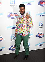 Khalid at the Capital FM Summertime Ball at Wembley Stadium, London on June 8th 2019<br /> CAP/ROS<br /> ©ROS/Capital Pictures