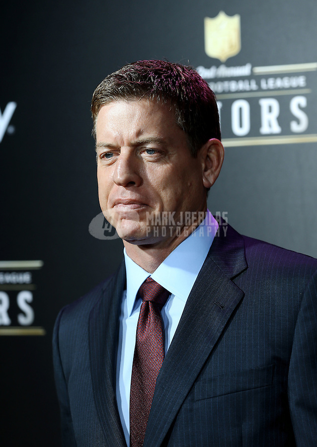 Feb. 2, 2013; New Orleans, LA, USA:  Dallas Cowboys former quarterback Troy Aikman on the red carpet prior to the Super Bowl XLVII NFL Honors award show at Mahalia Jackson Theater. Mandatory Credit: Mark J. Rebilas-USA TODAY Sports
