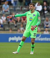 goalkeeper Rune Jarstein      <br /> / Sport / Football / pre season friendly Bundesliga  DFL /  2018/2019 / 15.08.2018 / Hertha BSC Berlin vs. Hscher FC Chemie HFC / DFL regulations prohibit any use of photographs as image sequences and/or quasi-video. /<br />       <br />    <br />  *** Local Caption *** &copy; pixathlon