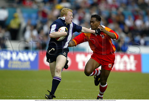 MARK LEE, SCOTLAND 40 v Tonga 26, Men's Rugby 7's Bowl Final, 2002 Manchester Commonwealth Games, City of Manchester Stadium, 020804. Photo: Glyn Kirk/Action Plus...union.international internationals.sevens 7s........