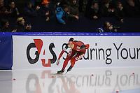 SCHAATSEN: HEERENVEEN: Thialf, Essent ISU World Cup, 02-03-2012, 500m Ladies, Beixing Wang (CHN), ©foto: Martin de Jong