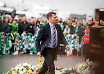 Graeme Murty leads his players into Celtic Park for his final match as Rangers caretaker manager