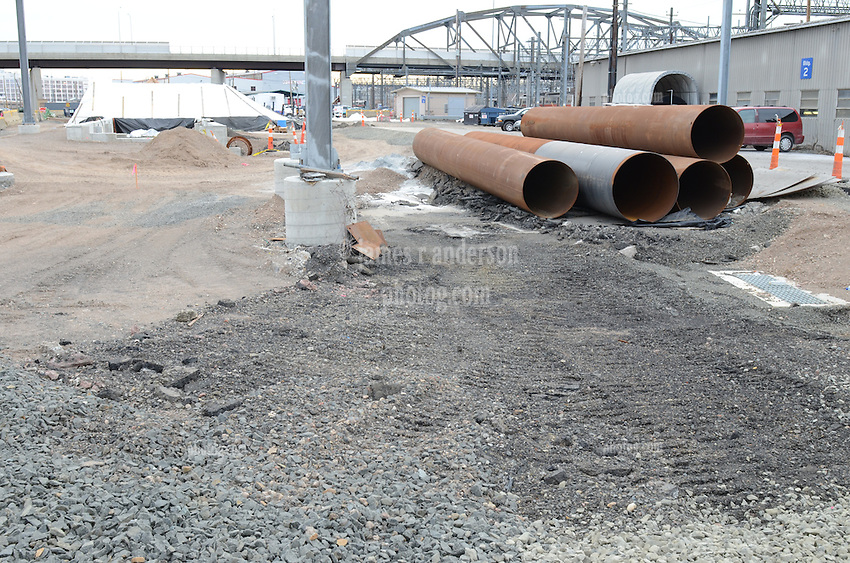 New Haven Rail Yard, Independent Wheel True Facility. CT-DOT Project # 0300-0139, New Haven CT.<br /> Photograph of Construction Progress Photo Shoot 19 on 25 January 2013. One of 52 Images Captured this Submission.