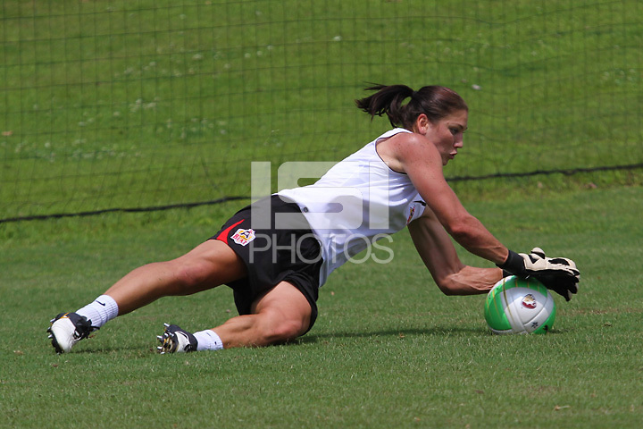 Hope Solo at her first practice with the Atlanta Beat