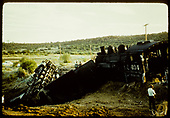 Train wreck of #494 K-37.<br /> D&amp;RGW