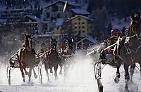 Europe/Suisse/Engadine/St-Moritz: Course de chevaux sur le lac gelé