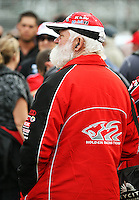 A Holden fan during Day Three of the Hamilton 400 Aussie V8 Supercars Round Two at Frankton, Hamilton, New Zealand on Sunday, 19 April 2009. Photo: Dave Lintott / lintottphoto.co.nz