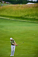 Ross Fisher (ENG) chips on to 17 during the Wednesday practice day of the 117th U.S. Open, at Erin Hills, Erin, Wisconsin. 6/14/2017.<br /> Picture: Golffile | Ken Murray<br /> <br /> <br /> All photo usage must carry mandatory copyright credit (&copy; Golffile | Ken Murray)