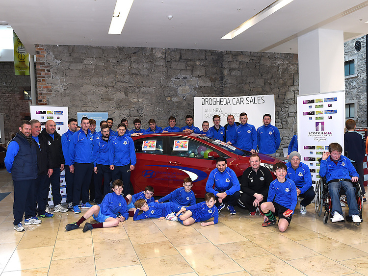 Drogheda United team and fans pictured in Scotch Hall. Photo:Colin Bell/pressphotos.ie