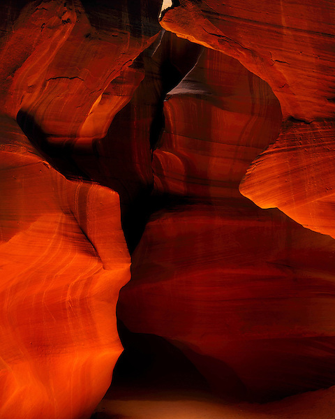 Sandstone walls in Antelope Canyon (slot canyon), Page, Arizona, USA. .  John offers private photo tours and workshops throughout Colorado. Year-round. .  John offers private photo tours in Arizona and and Colorado. Year-round.