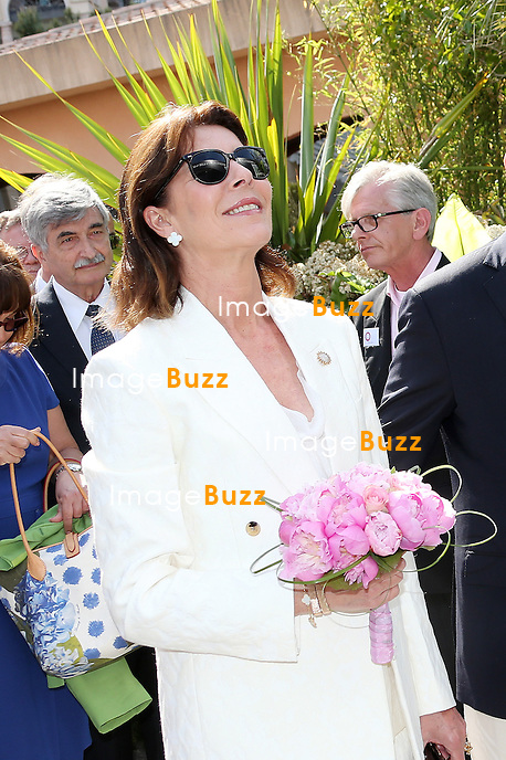 PRINCE ALBERT OF MONACO & PRINCESS CAROLINE - -H. S. H. Prince Albert II of Monaco and sister H. R. H. Princess Caroline of Hanover attend the traditional 'Bouquets' Competition at the Principality Circus tent. Monaco, May 4, 2013.