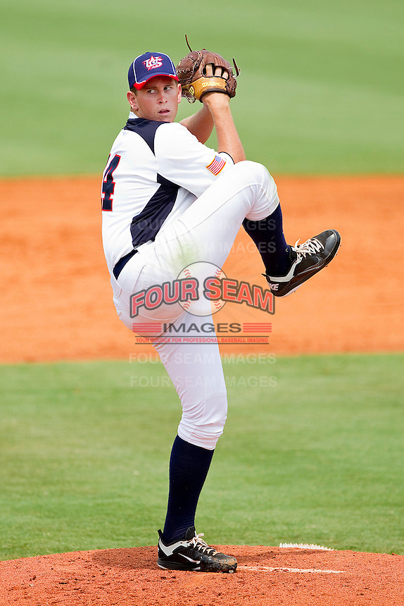 Troy Conyers #14 of STARS in action against RBI at the 2011 Tournament of Stars at the USA Baseball National Training Center on June 26, 2011 in Cary, North Carolina. (Brian Westerholt/Four Seam Images)