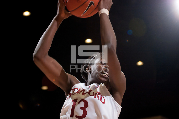 STANFORD, CA - November 14, 2010: Chiney Ogwumike during a basketball game against Rutgers at Stanford University in Stanford, California. Stanford won 63-50.