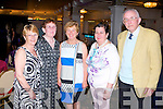 COUNTRY DANCE: Having a great time at the Country Dance in aid of the Kerry Hospice at the Earl of Desmond hotel, Tralee on Friday l-r: Mary McCarthy, Kathleen McMullan, Sheila O'Donoghue and Kay and Michael Long.