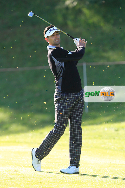 Lee Slattery (ENG) on the 13th during Thursday's Round 1 of The Open De Espana at The PGA Catalunya Resort. 15th May 2014.<br /> Picture:  Thos Caffrey / www.golffile.ie
