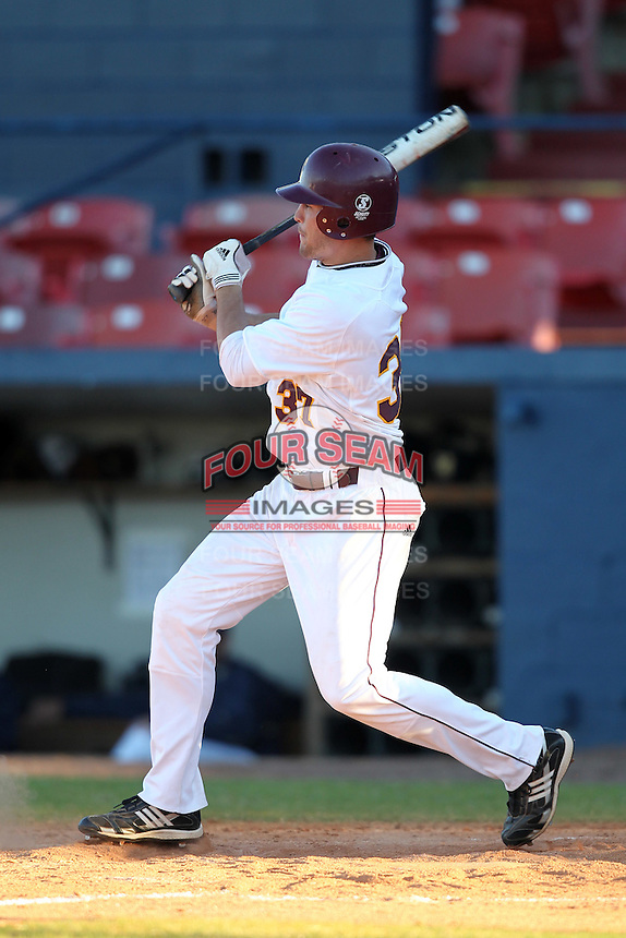 Central Michigan Chippewas Matt Faiman #37 during a game vs. the Pittsburgh Panthers at Chain of Lakes Park in Winter Haven, Florida;  March 11, 2011.  Pittsburgh defeated Central Michigan 19-2.  Photo By Mike Janes/Four Seam Images