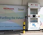 H2 Hydrogen public fuel filling station, Honda, South Marston, Swindon, Wiltshire, England, UK