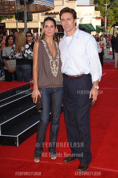 "Actress ANGIE HARMON & husband at the world premiere, in Los Angeles, of ""Miami Vice."".July 20, 2006  Los Angeles, CA.© 2006 Paul Smith / Featureflash"
