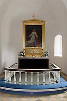 Altar in der Ibs Kirke in Ibsker auf der Insel Bornholm, D&auml;nemark, Europa<br /> altar in Ibs Kirke in Ibsker, Isle of Bornholm Denmark