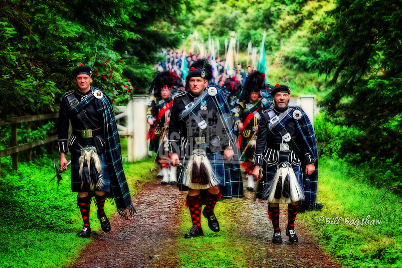 Lonach March. Marching up a patrons drive for a wee dram. www.dsider.co.uk whats on Strathdon, photo by Bill Bagshaw