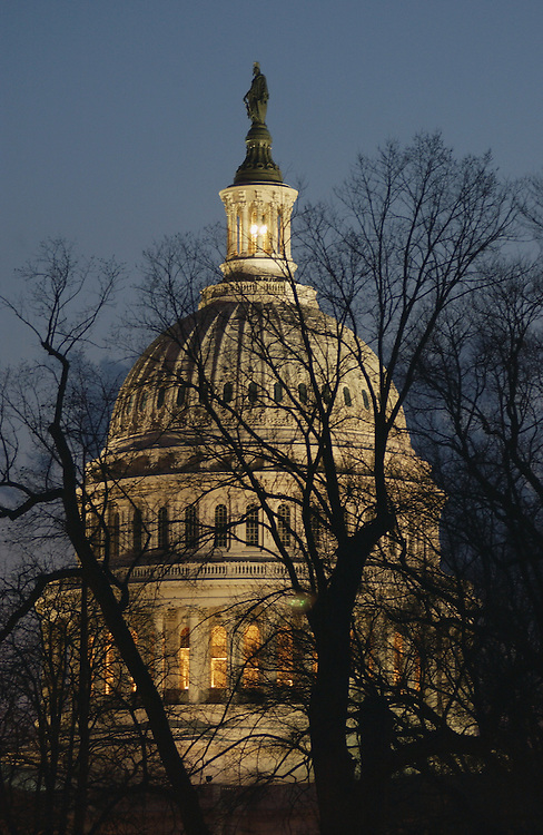 3/21/02.U.S.CAPITOL--The East Front of the U.S. Capitol..CONGRESSIONAL QUARTERLY PHOTO BY SCOTT J. FERRELL