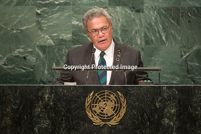 Tuvalu<br /> H.E. Mr. Enele Sosene Sopoaga<br /> Prime Minister<br /> <br /> General Assembly Seventy-first session, 17th plenary meeting<br /> General Debate