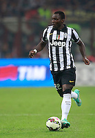 Calcio, Serie A: Milan vs Juventus, Milano, stadio San Siro, 20 settembre 2014.<br /> Juventus midfielder Kwadwo Asamoah, of Ghana, in action during the Italian Serie A football match between AC Milan and Juventus at Milan's San Siro stadium, 20 September 2014.<br /> UPDATE IMAGES PRESS/Isabella Bonotto
