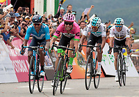 MANIZALES-COLOMBIA. 10-02-2018. Rigoberto Uran (segundo desde Izq), Colombia, (EF EDUCATION FIRST-DRAPAC) gana la 5ª etapa de la Colombia Oro y Paz UCI 2.1 que se corrió entre la ciudad de Pereira y la población de Salento con una distancia de 167 kms. / Rigoberto Uran (segundo desde Izq), Colombia, (EF EDUCATION FIRST-DRAPAC) wins the 5ª stage of the Colombia Oro y Paz UCI 2.1, that was held between Pareira city and Salento village over 167 kms. Photo: VizzorImage/Santiago Osorio/Cont