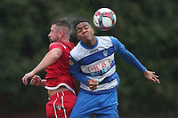 Jamall Doztsi of Ilford and Ryan Maxwell of Walthamstow during Ilford vs Walthamstow, Essex Senior League Football at Cricklefields Stadium on 6th October 2018
