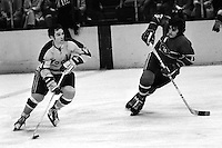 Seals Hilliard Graves scates against Montreal #19<br />(1973 photo/Ron Riesterer)