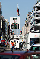 24 AUG 2009 - BERLIN, GER - The former border crossing, Checkpoint Charlie (PHOTO (C) NIGEL FARROW