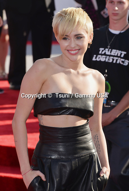 Miley Cyrus 102 at the  MTV Video Music Awards at the Great Western Forum in Los Angeles.
