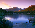 Longs Peak, Bear Lake, morning, Rocky Mountain National Park, Colorado