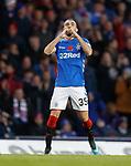 11.11.2018 Rangers v Motherwell: Eros Grezda celebrates as he hits goal no 6 for Rangers